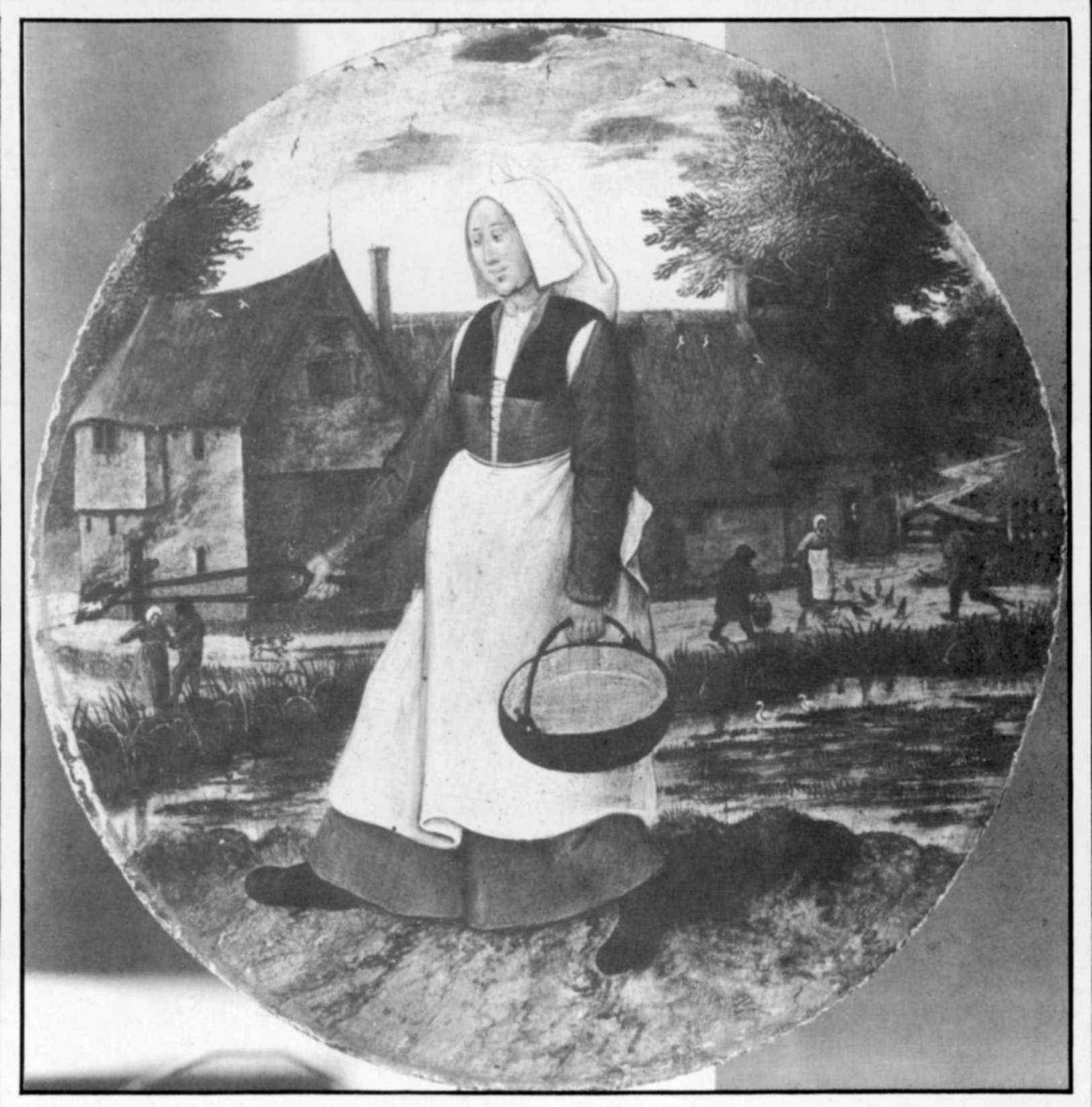 """Pieter Brueghel (krąg) """"Kobieta przenosząca żar"""", źródło: skradzionezabytki.pl"""