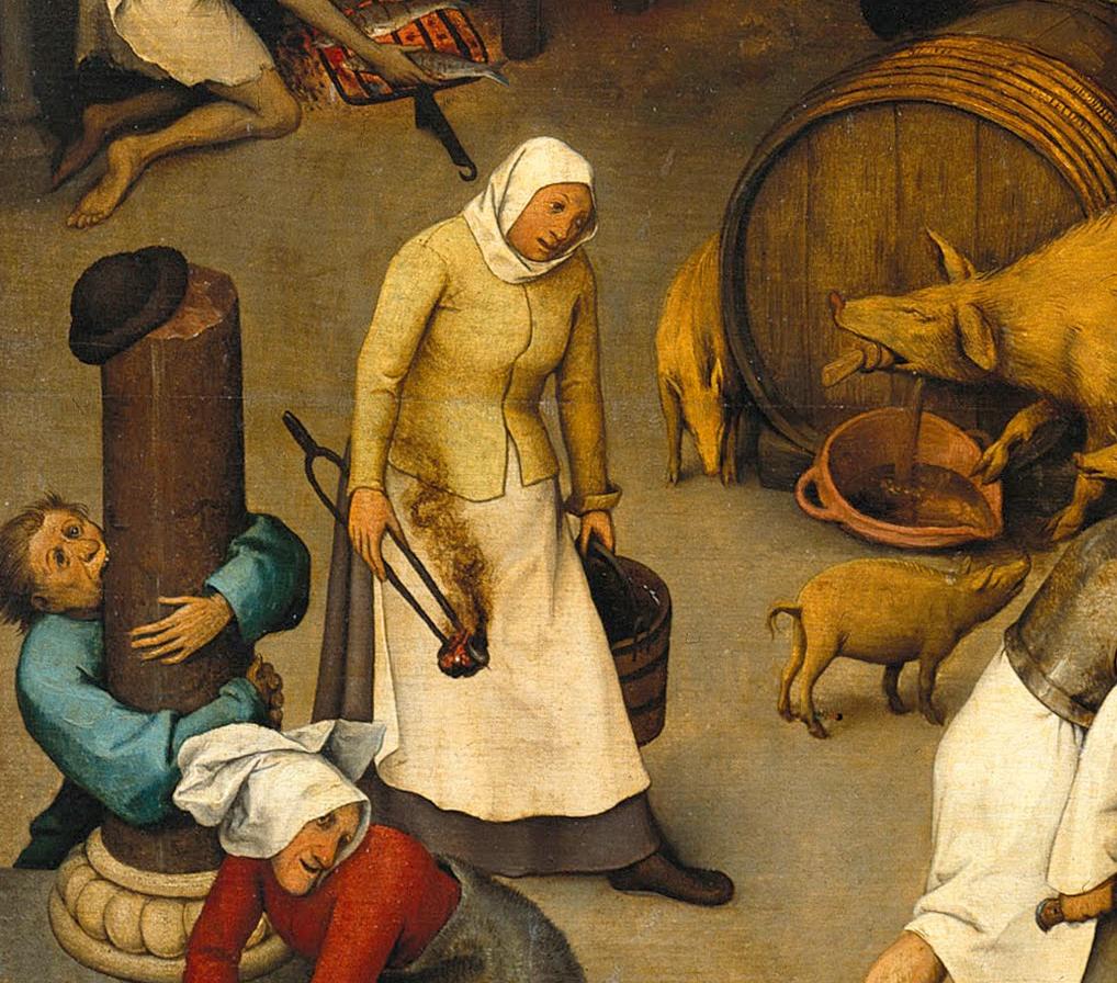 """Pieter Brueghel Starszy """"Przysłowia niderlandzkie"""" (fragment), źródło:  Gemäldegalerie Berlin"""