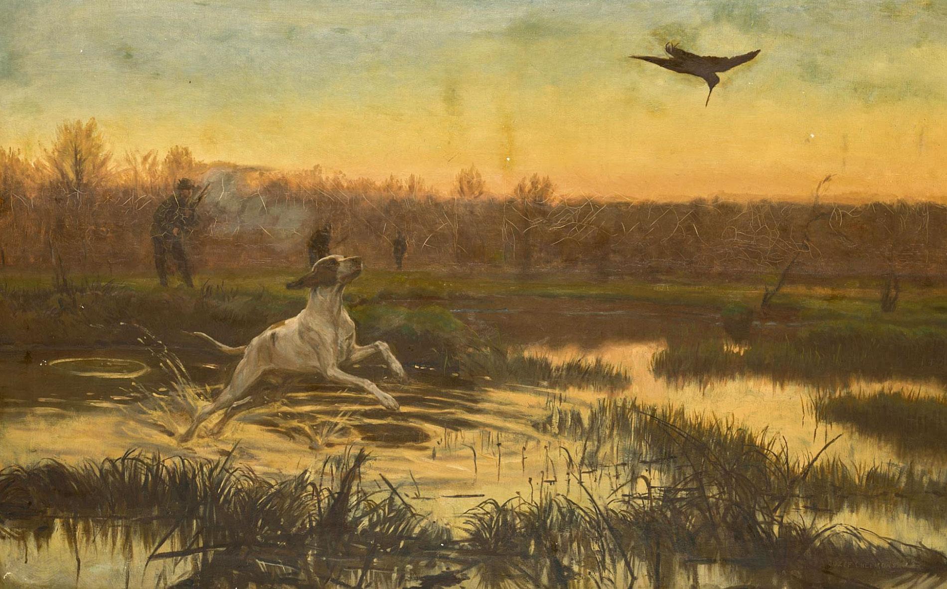 """Józef Chełmoński (1849-1914) """"Polowanie"""", źródło: Sotheby's"""