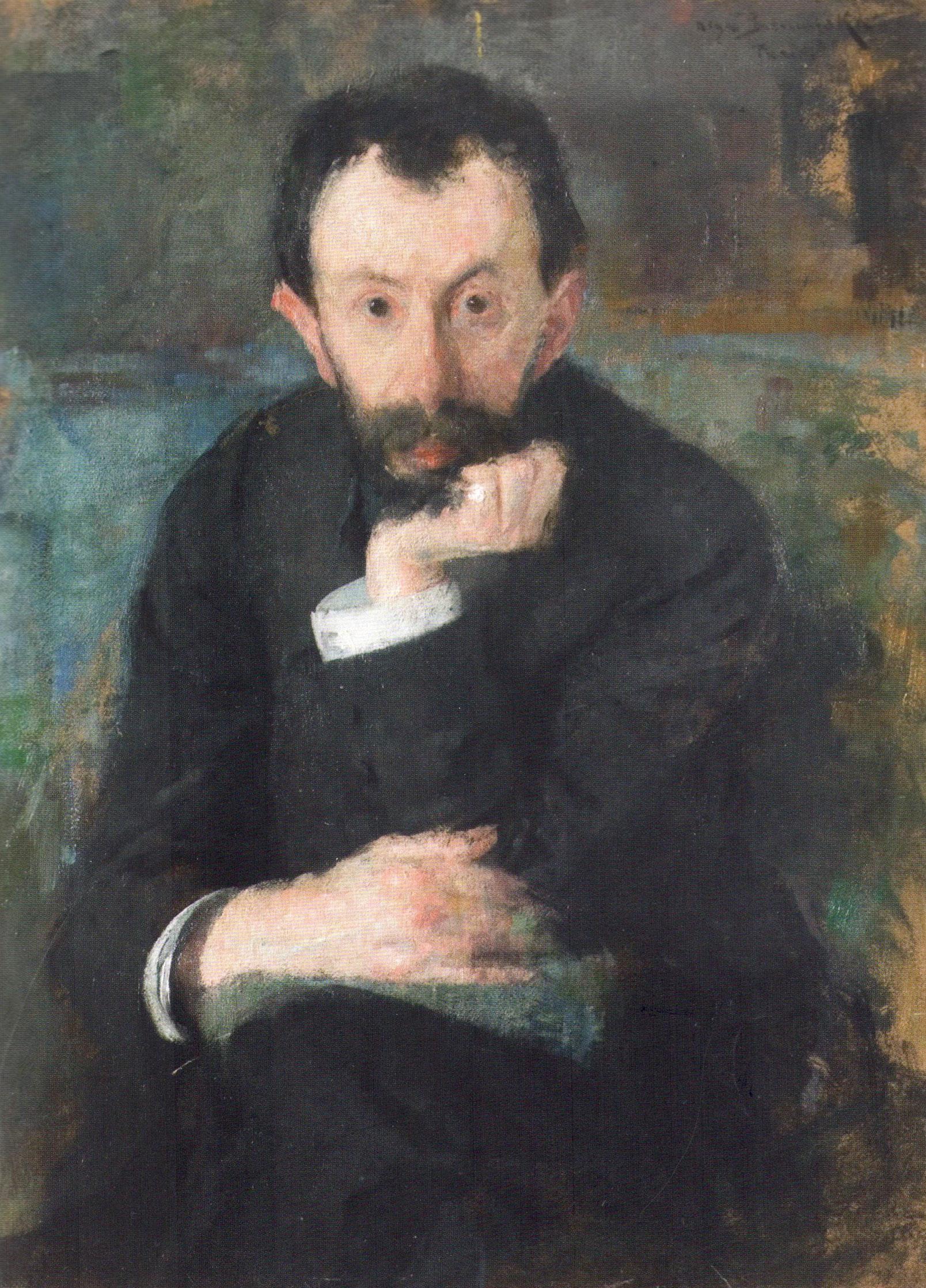 """Olga Boznańska """"Portret malarza Samuela Hirschenberga"""", ok. 1904 roku, źródło: Lwowska Narodowa Galeria Sztuki"""