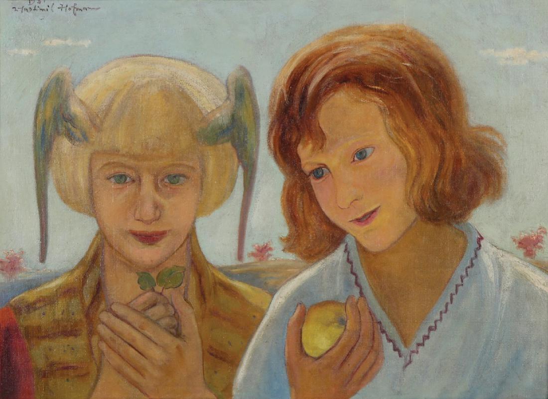 """Wlastimil Hofman (1881-1970) """"Dziewczynki"""", źródło: Tiroche Auction House"""