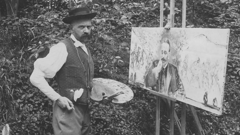 Jacek Malczewski z paletą (fragment), źródło: Muzeum Okręgowe w Radomiu