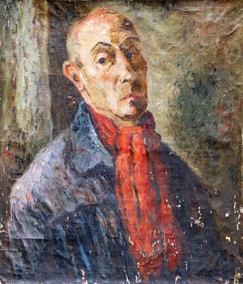 "Henryk Lewensztad (1893-1962) ""Autoportret"",  źródło: Boisgirard Antonini"