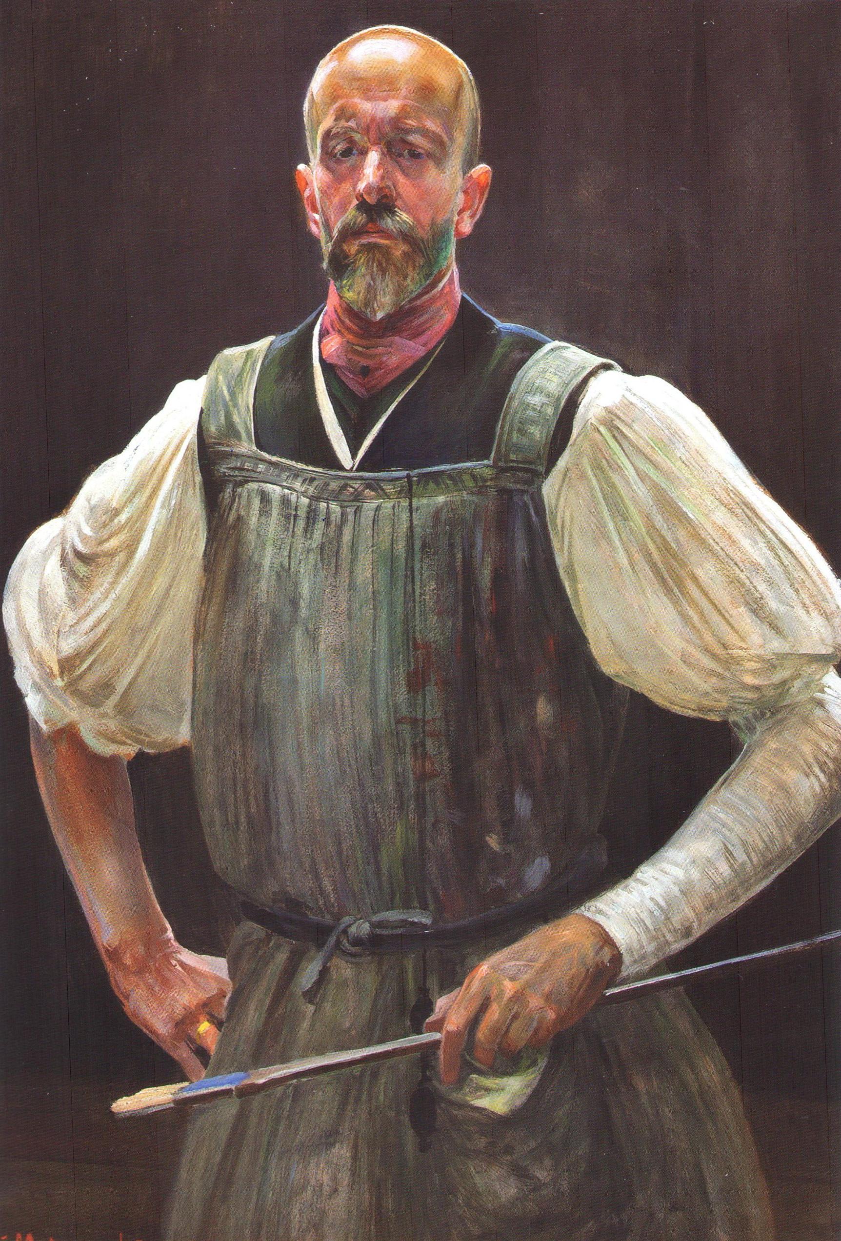 """Jacek Malczewski """"Autoportret"""", po 1908 roku, źródło: Muzeum Narodowe w Krakowie"""