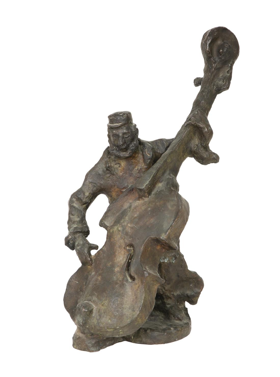 "Mane Katz (1894-1962) ""Kontrabasista"", źródło: Tiroche Auction House"