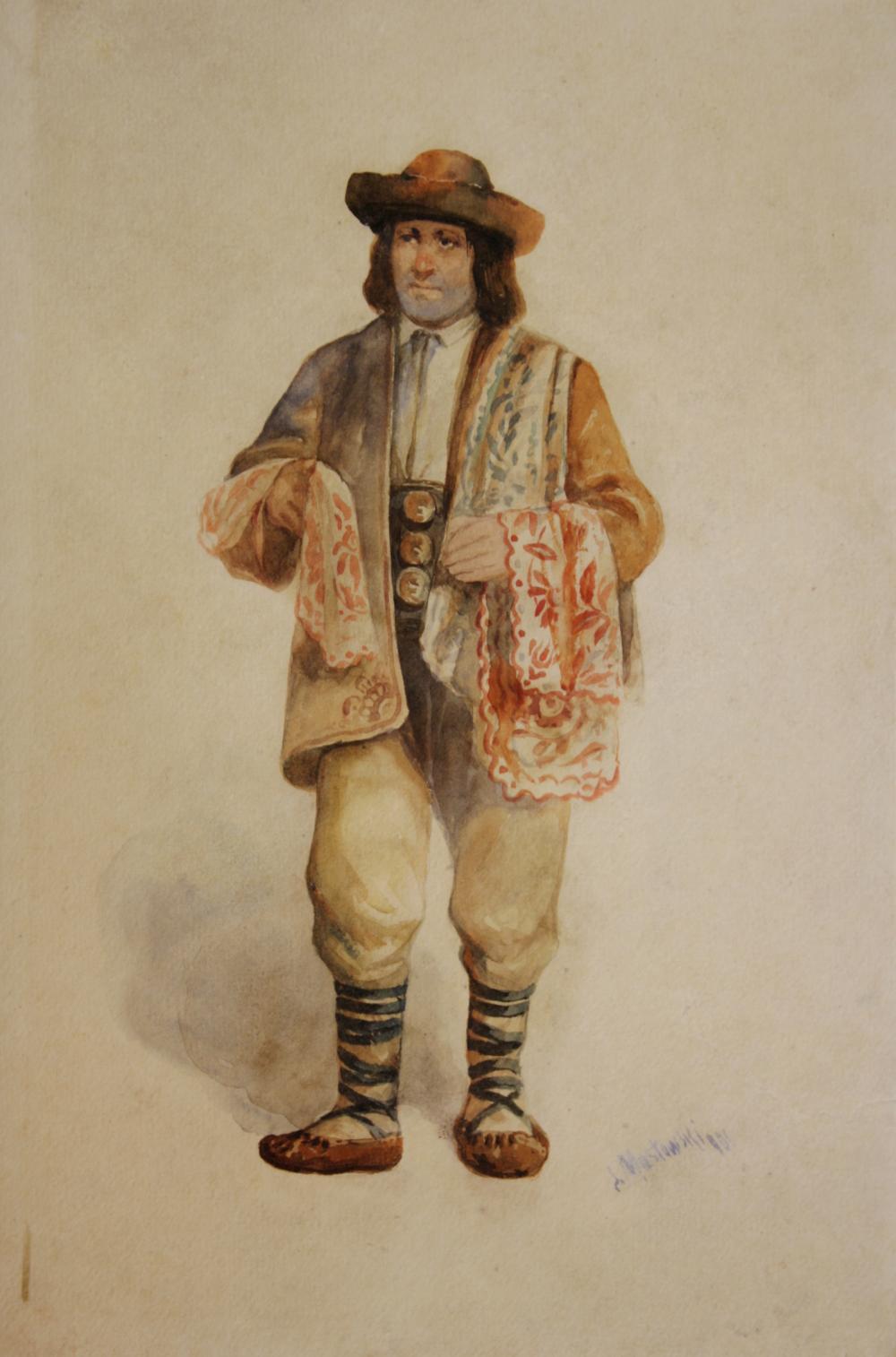 """Stanisław Masłowski (1853-1926) """"Hucuł"""", źródło: L'Art Gallery"""