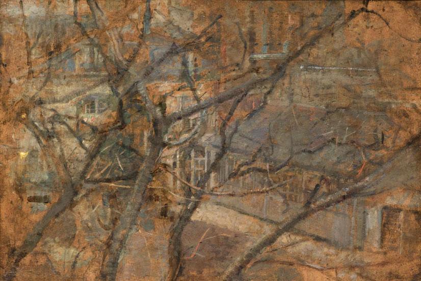 """Olga Boznańska """"Widok z okna pracowni paryskiej"""", lata 1912-1914, źródło: Muzeum Narodowe w Krakowie"""