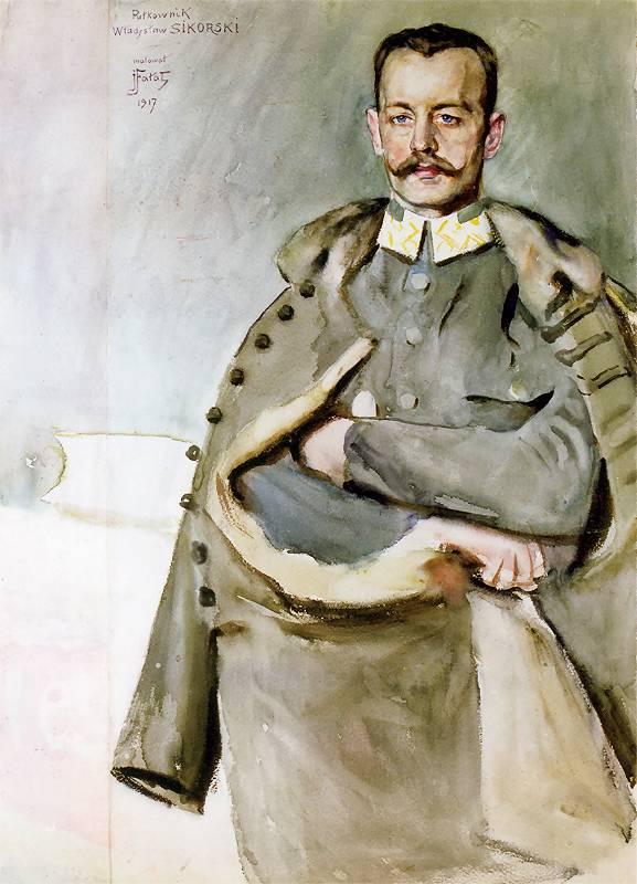 """Julian Fałat """"Portret pułkownika Władysława Sikorskiego"""", 1917 rok, źródło: Muzeum Wojska Polskiego w Warszawie"""