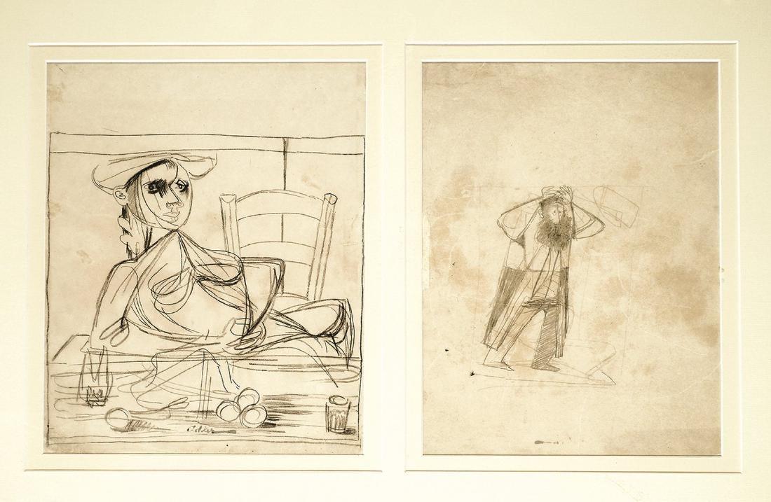 Jankiel Adler (1895-1949), Zestaw 2 prac, źródło: Tiroche Auction House