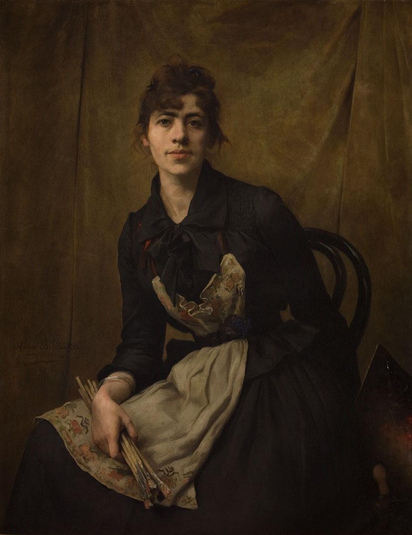 """Anna Bilińska-Bohdanowiczowa """"Autoportret"""", 1887 rok, źródło: Muzeum Narodowe w Krakowie"""