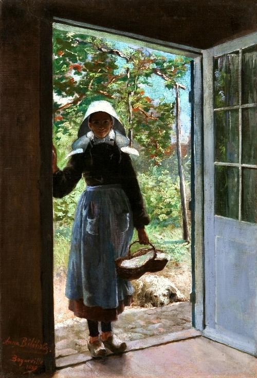 """Anna Bilińska-Bohdanowiczowa """"Bretonka na progu chaty"""", 1889 rok, źródło: Muzeum Narodowe we Wrocławiu"""