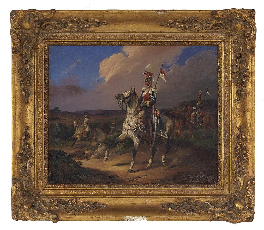 """Tadeusz Brodowski (1821-1848) """"Polski ułan"""", źródło: New Orleans Auction Galleries"""