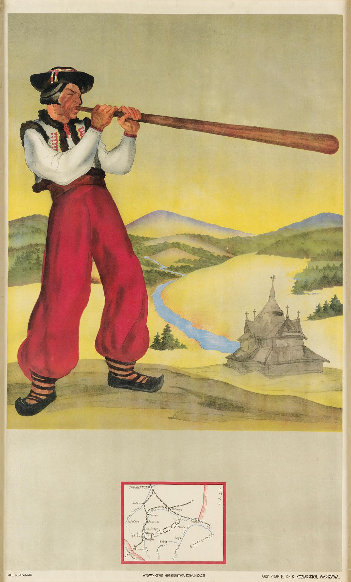 """Huculszczyzna"", plakat, źródło: Swann Auction Galleries"