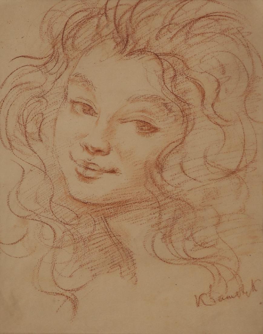 """Roman Kramsztyk (1885-1942) """"Portret kobiecy"""", źródło: Tiroche Auction House"""