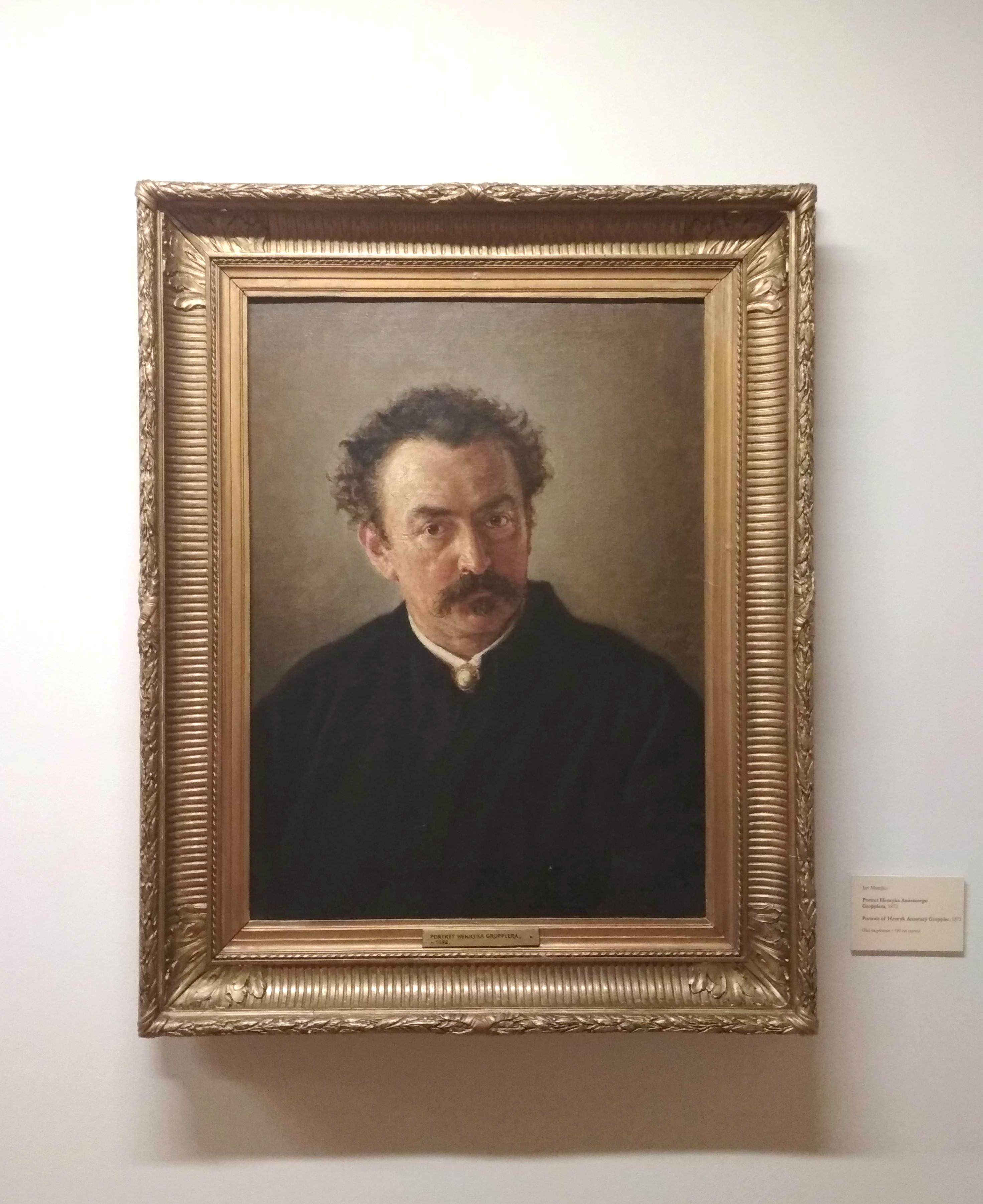 """Jan Matejko """"Portret Henryka Gropplera"""", 1872 rok, źródło: Muzeum Narodowe w Krakowie"""