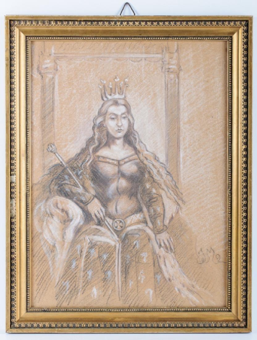 """Jan Matejko (1838-1893) """"Polska księżniczka na tronie"""", źródło: Bremo Auctionsbadge"""