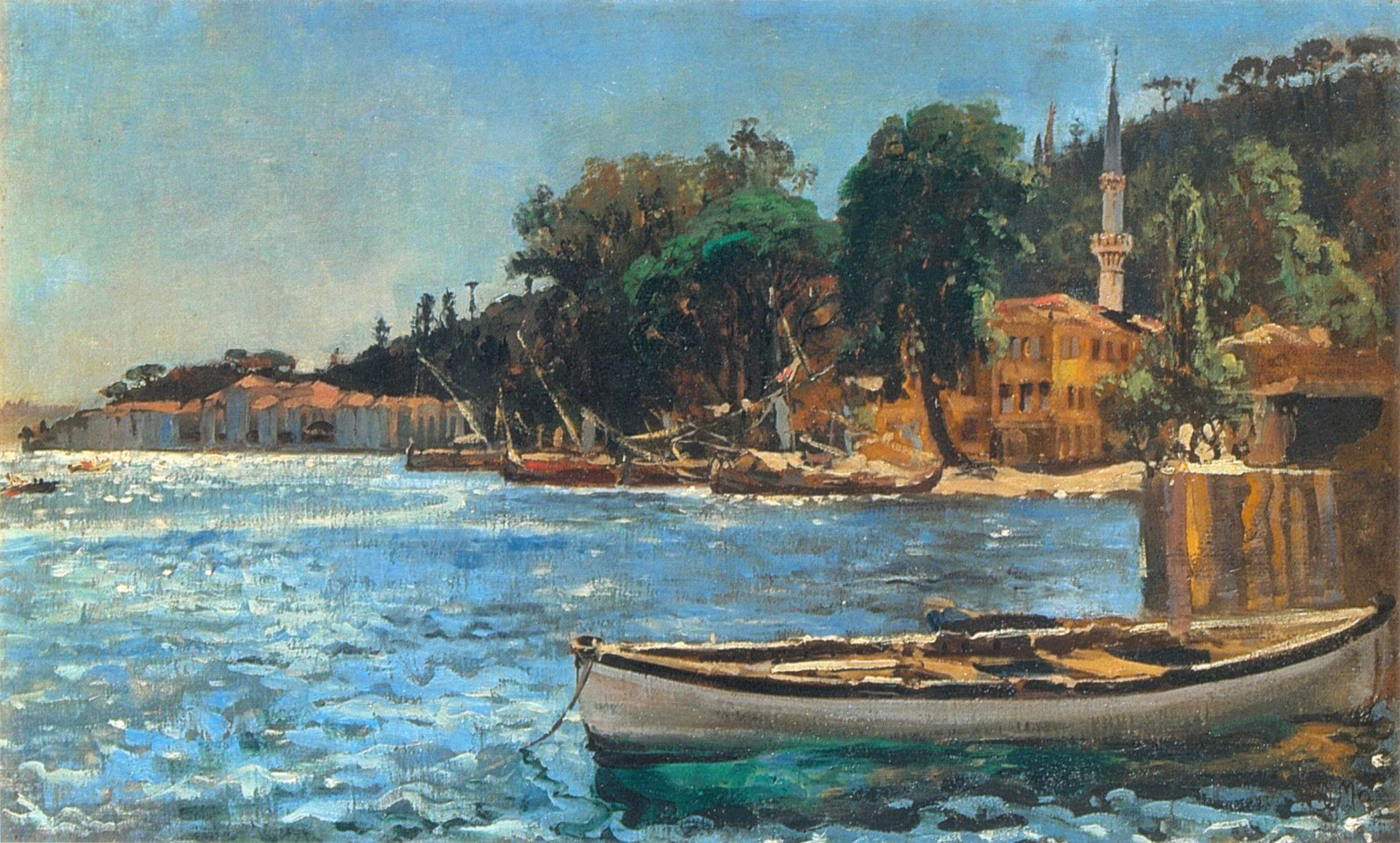 "Jan Matejko ""Widok Bebeku od Bosforu"", 1872 rok, źródło: Lwowska Galeria Sztuki"