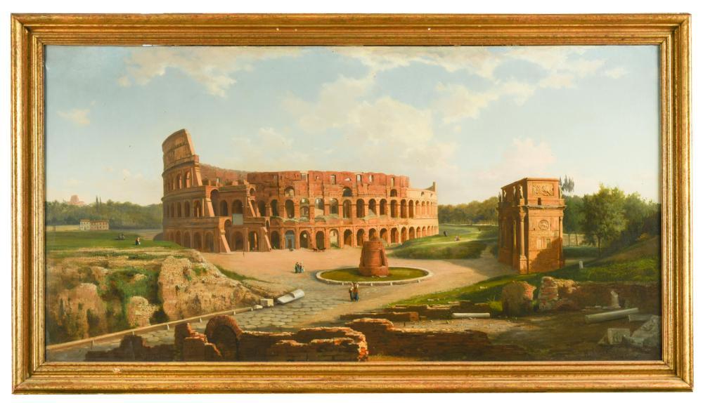 """Henryk Cieszkowski (1835-1895) """"Rzymskie Koloseum"""", źródło: Cheffins"""