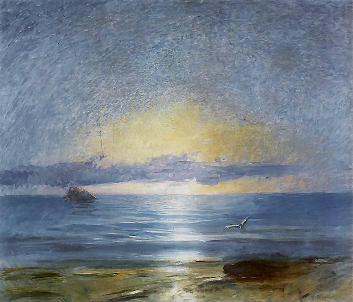 """Ludwik de Laveaux """"Poranek po burzy"""", 1891 rok, źródło: Muzeum Pomorza Środkowego w Słupsku"""