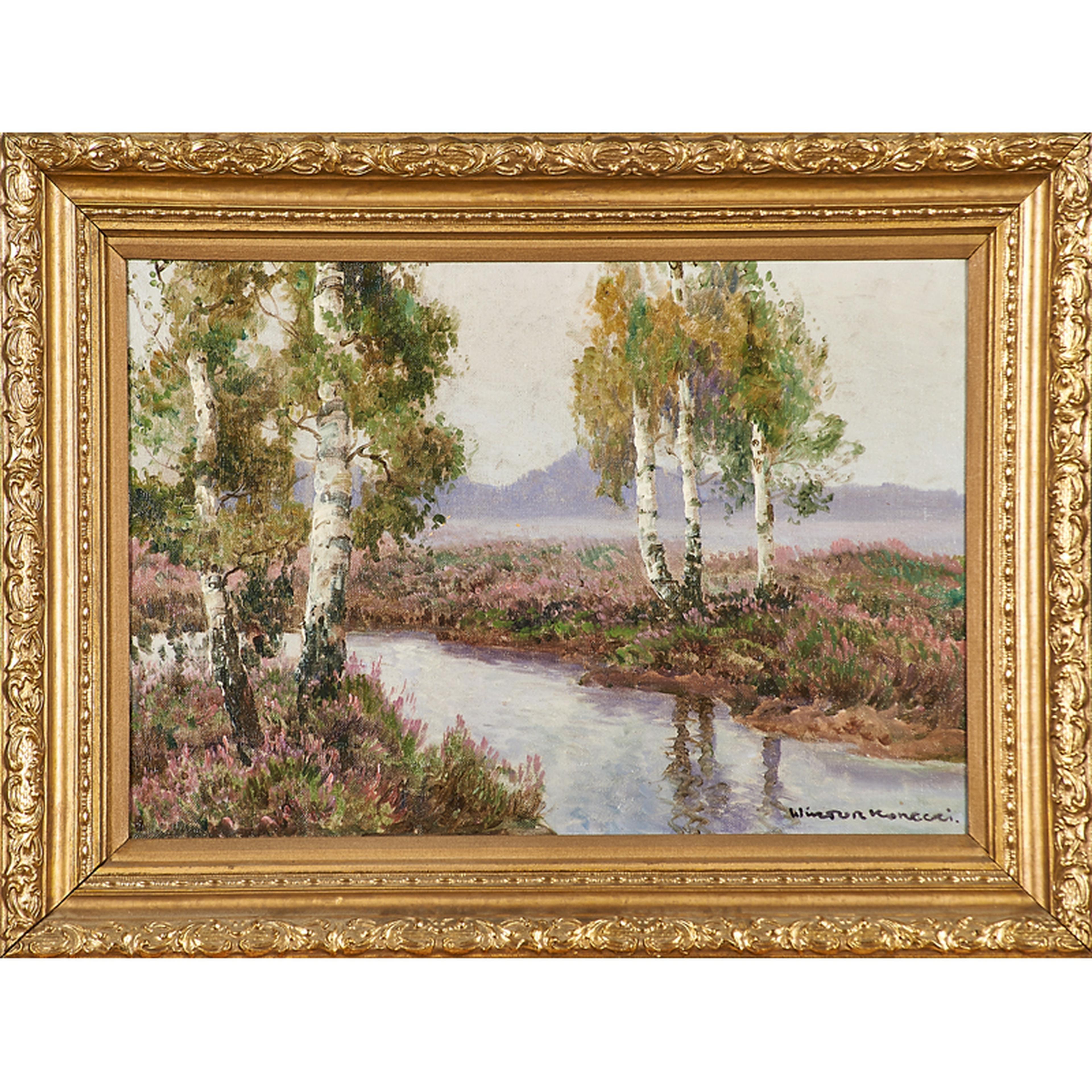 """Wiktor Korecki (1890-1980) """"Pejzaż"""", źródło: Rago Arts and Auction Cente"""