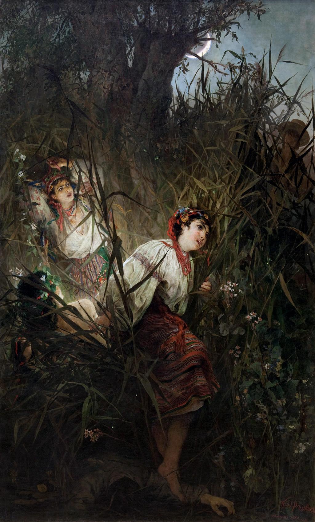 """Witold Pruszkowski """"Rusałki"""", 1877 rok, źródło: Muzeum Narodowe w Krakowie"""