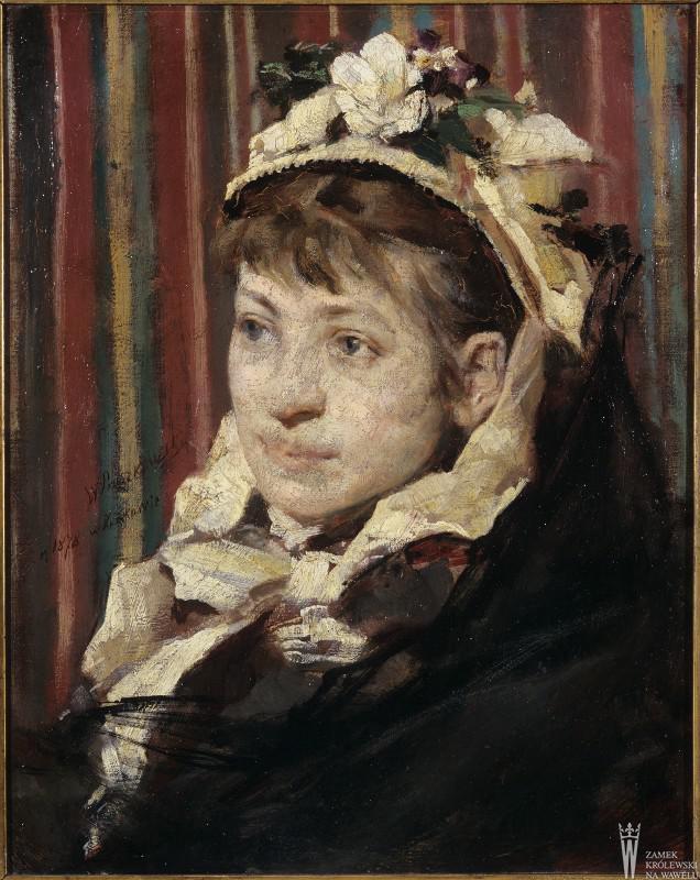 """Witold Pruszkowski """"Portret Stefanii Fedorowiczowej"""", 1878 rok, źródło: Państwowe Zbiory Sztuki na Wawelu"""