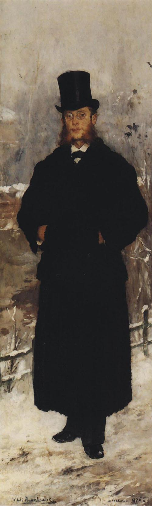 """Witold Pruszkowski """"Portret Kazimierza Bartoszewicza"""", 1876 rok, źródło: Muzeum Sztuki w Łodzi"""