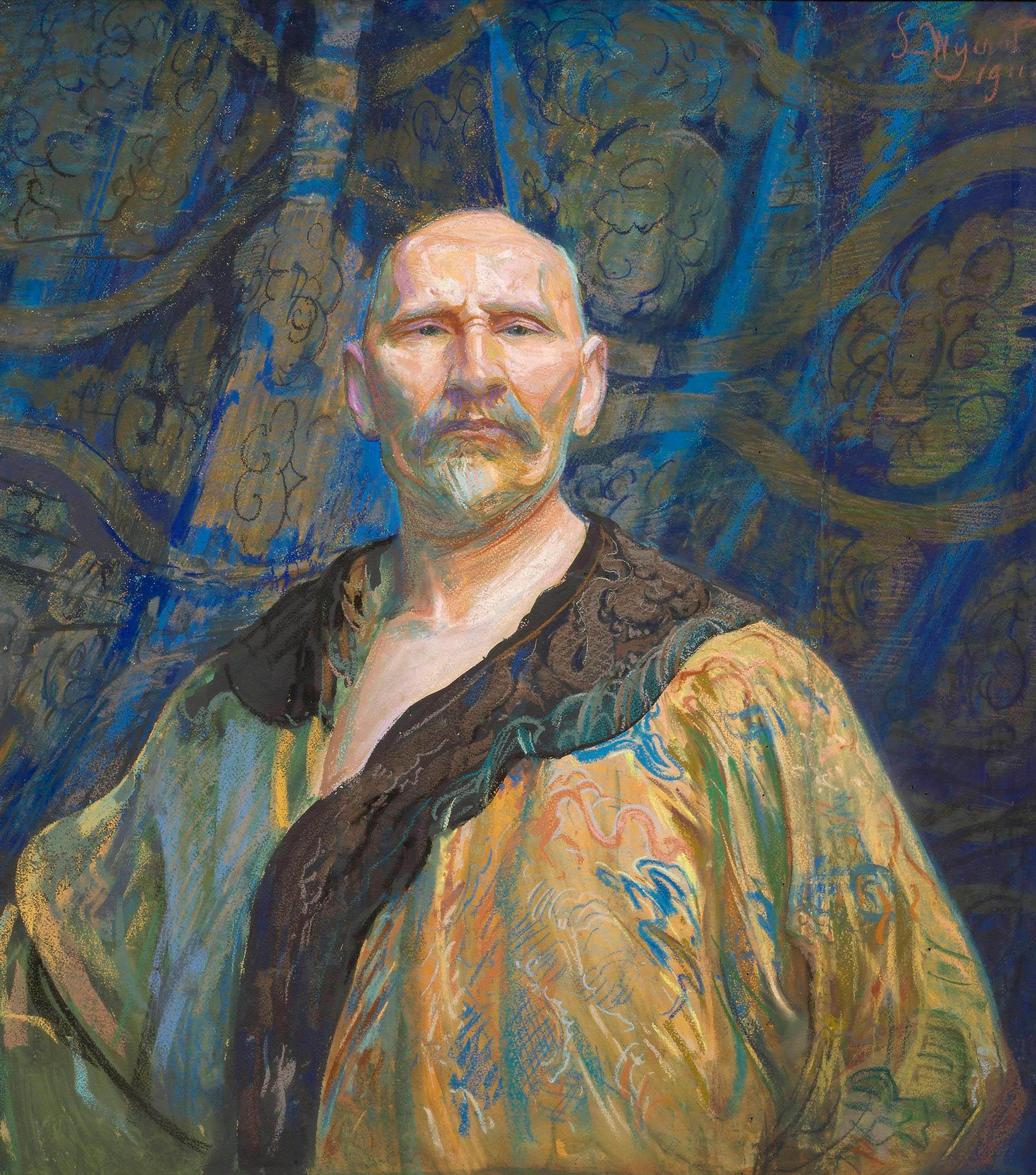 """Leon Wyczółkowski """"Autoportret w chińskim kaftanie"""", 1911 rok, źródło: Muzeum Narodowe w Warszawie"""