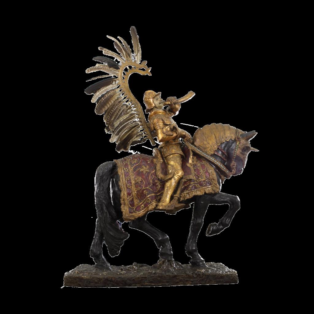 """Leon Wyczółkowski """"Husarz siedzący na koniu"""", 1907 rok (wg projektu Jana Matejki), źródło: Muzeum Narodowe w Krakowie"""