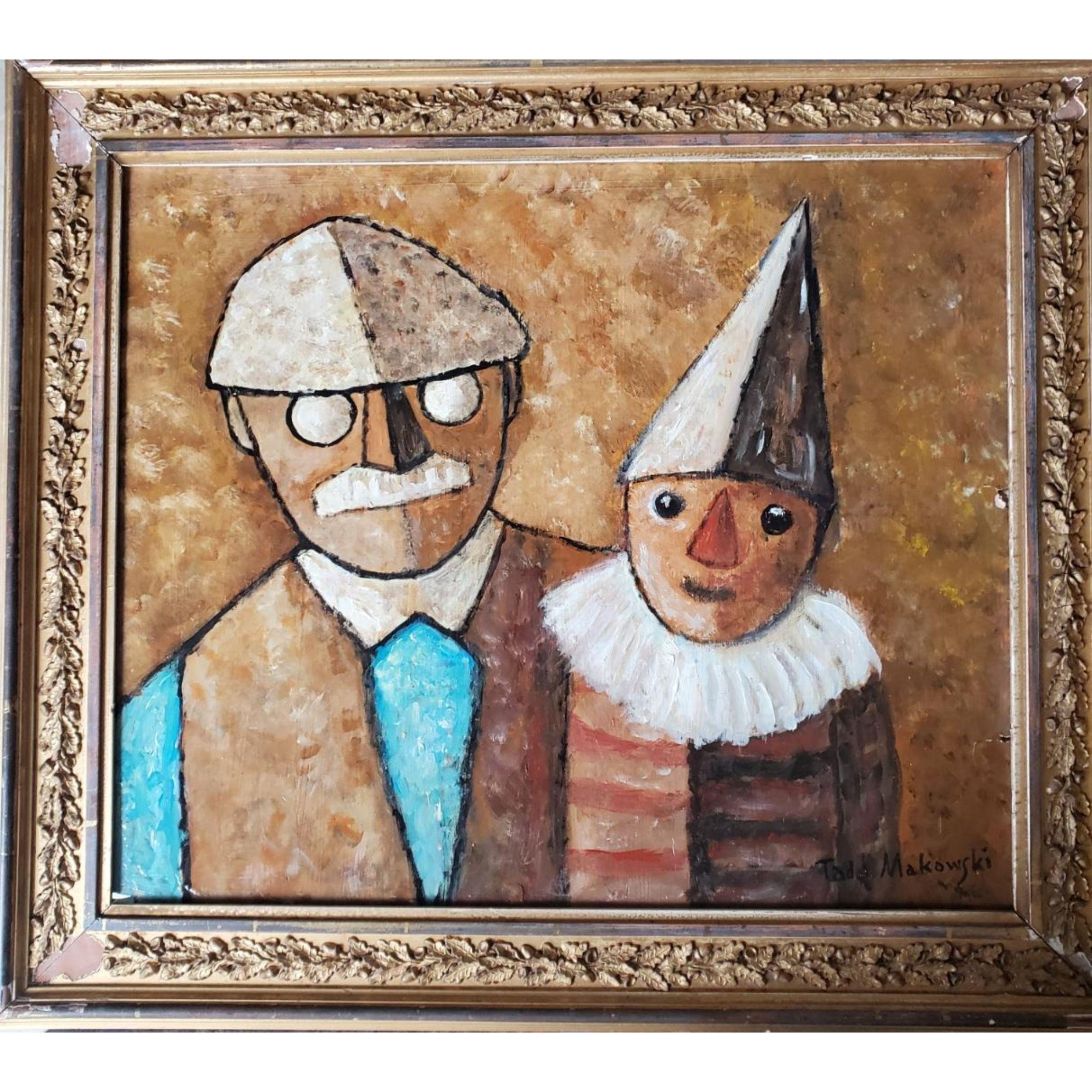 """Tadeusz Makowski (1882-1932) """"Dziadek z wnuczkiem"""", źródło: Orlando Estate Auction"""