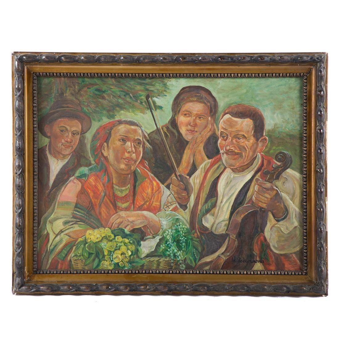 """Wincenty Wodzinowski (1866-1940) """"Cygańska rodzina"""" (sic!), źródło: Alex Cooper"""