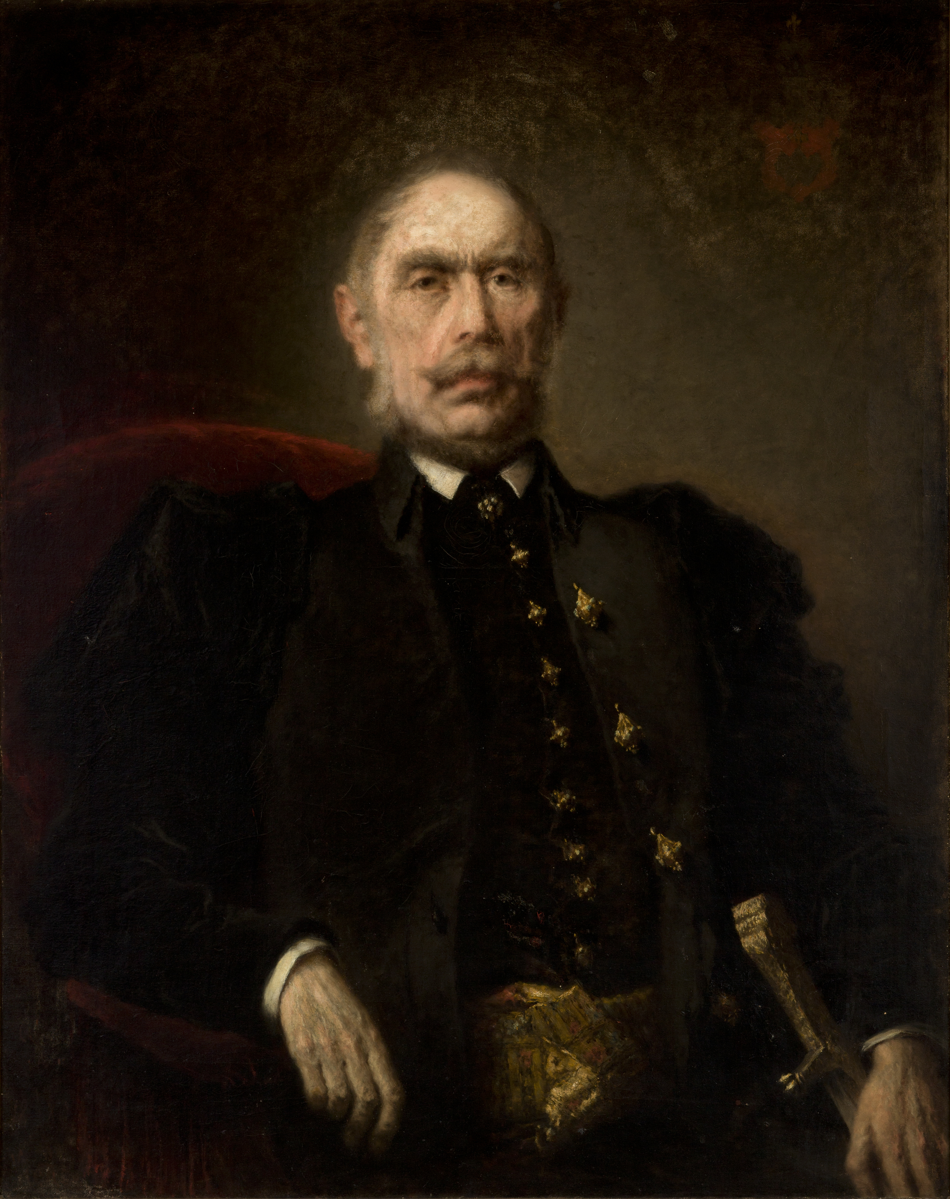 """Wilhelm Leopolski """"Portret Kazimierza Grocholskiego"""", 1880 rok, źródło: Muzeum Narodowe w Krakowie"""