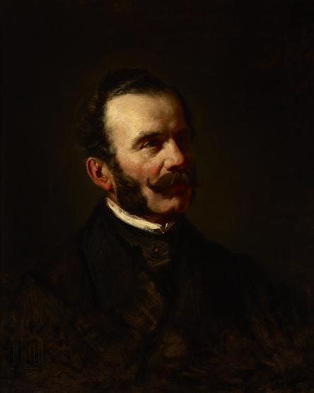 """Wilhelm Leopolski """"Portret Lucjana Siemieńskiego"""", między 1863 a 1866 rokiem, źródło: Muzeum Narodowe w Krakowie"""