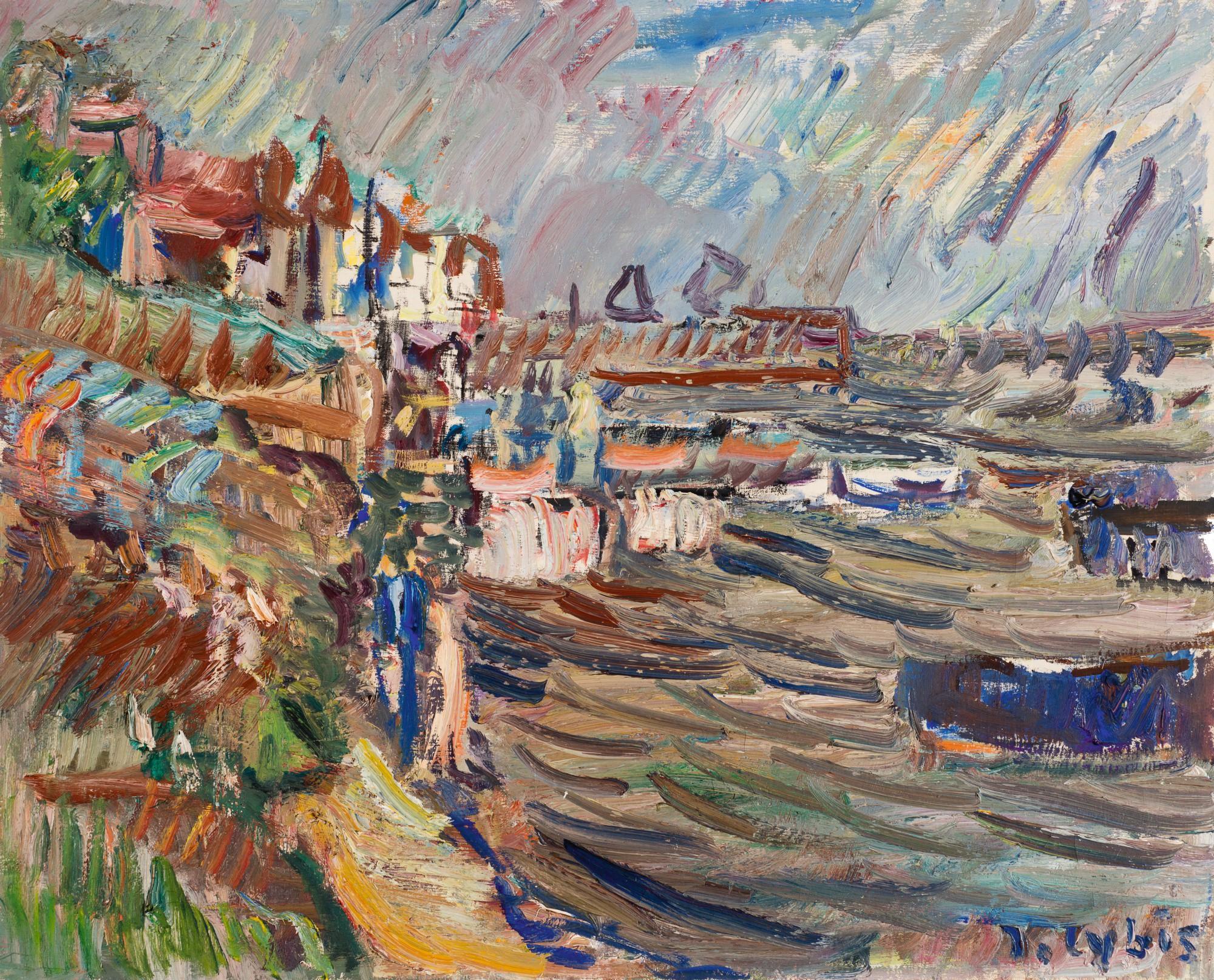 """Jan Cybis (1897-1972) """"Kuźnica - Zatoka III"""", źródło: Sotheby's"""