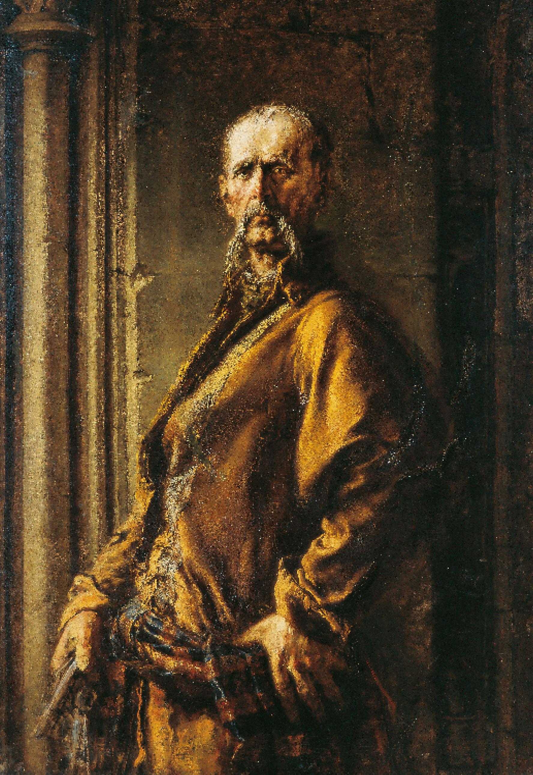 """Wilhelm Leopolski """"Klucznik Gerwazy, ok. 1874 roku, źródło: Muzeum Narodowe we Wrocławiu"""