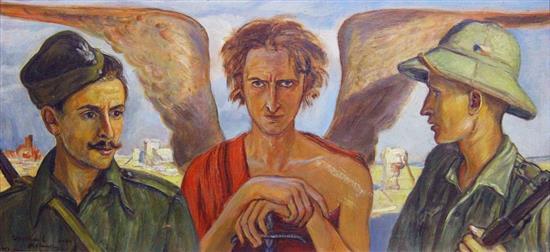 """Wlastimil Hofman (1881-1970) """"Anioł sprawiedliwości"""", źródło: Matsart Auctioneers & Appraisers"""
