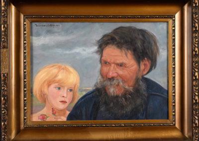 """Wlastimil Hofman """"Starzec z dzieckiem"""""""