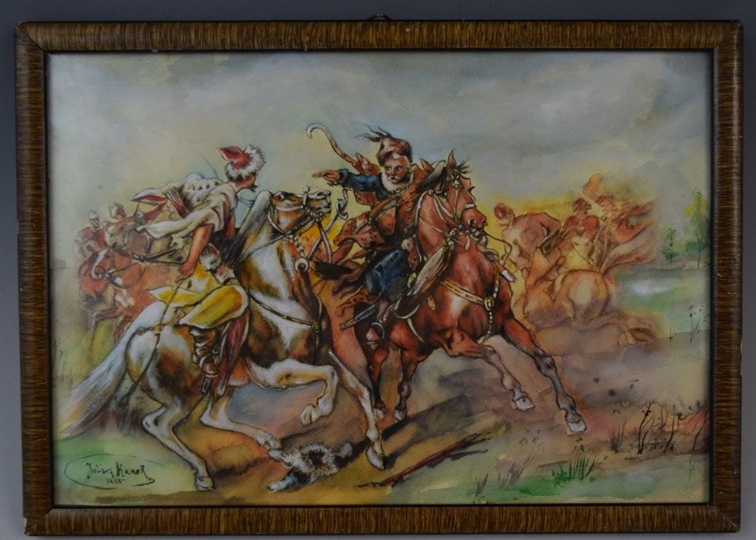 "Juliusz Kossak (1824-1899) ""Bitwa"", źródło: Black River Auction"