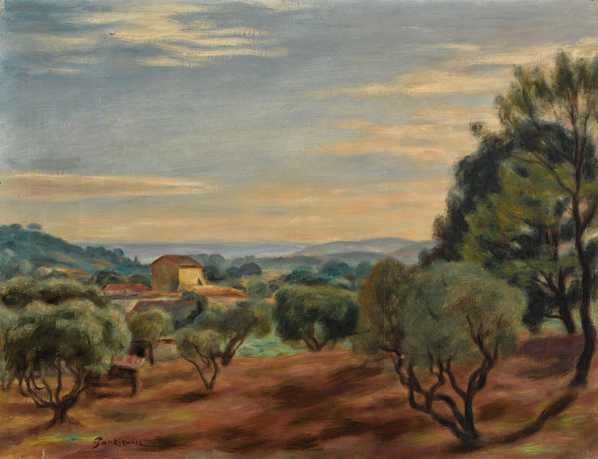 """Józef Pankiewicz (1866- 1940) """"Pejzaż z Prowansji"""", źródło: Sotheby's"""