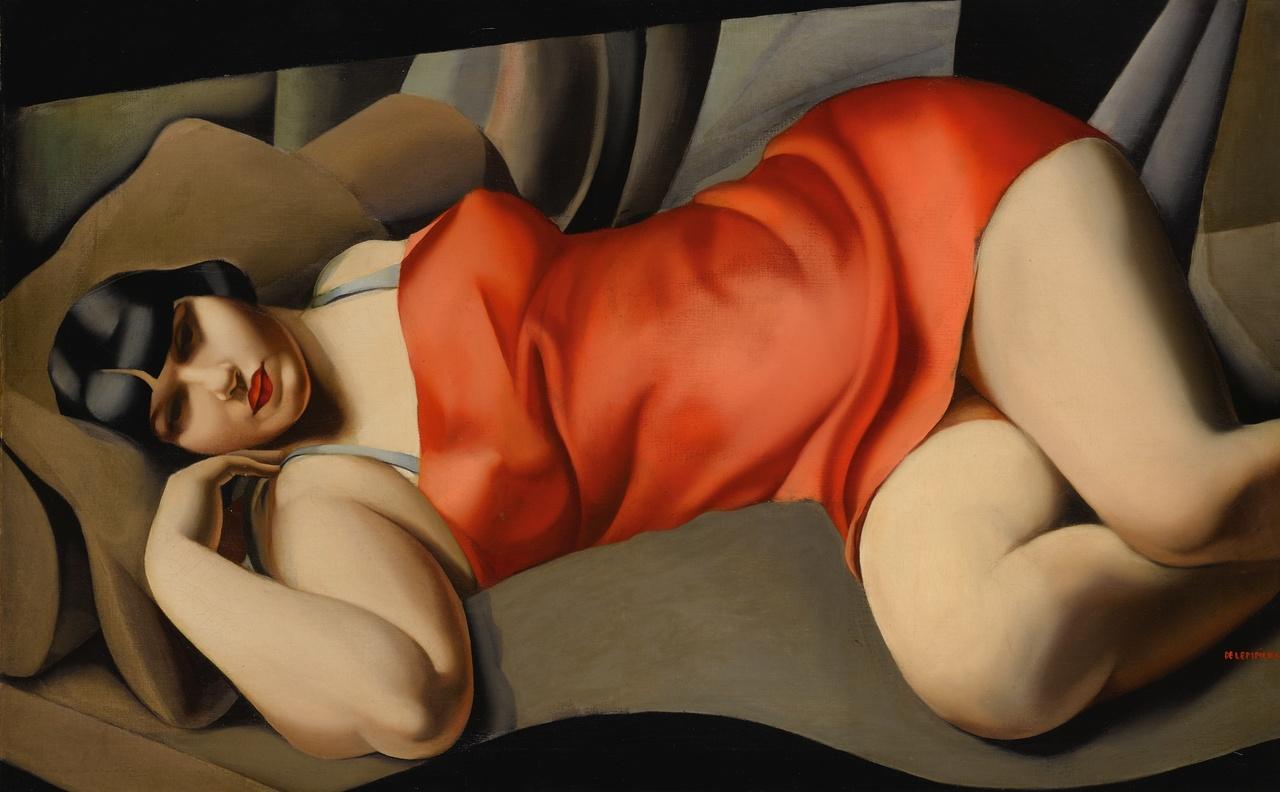 """Tamara Łempicka (1898-1980) """"Różowa tunika"""", źródło: Sotheby's"""
