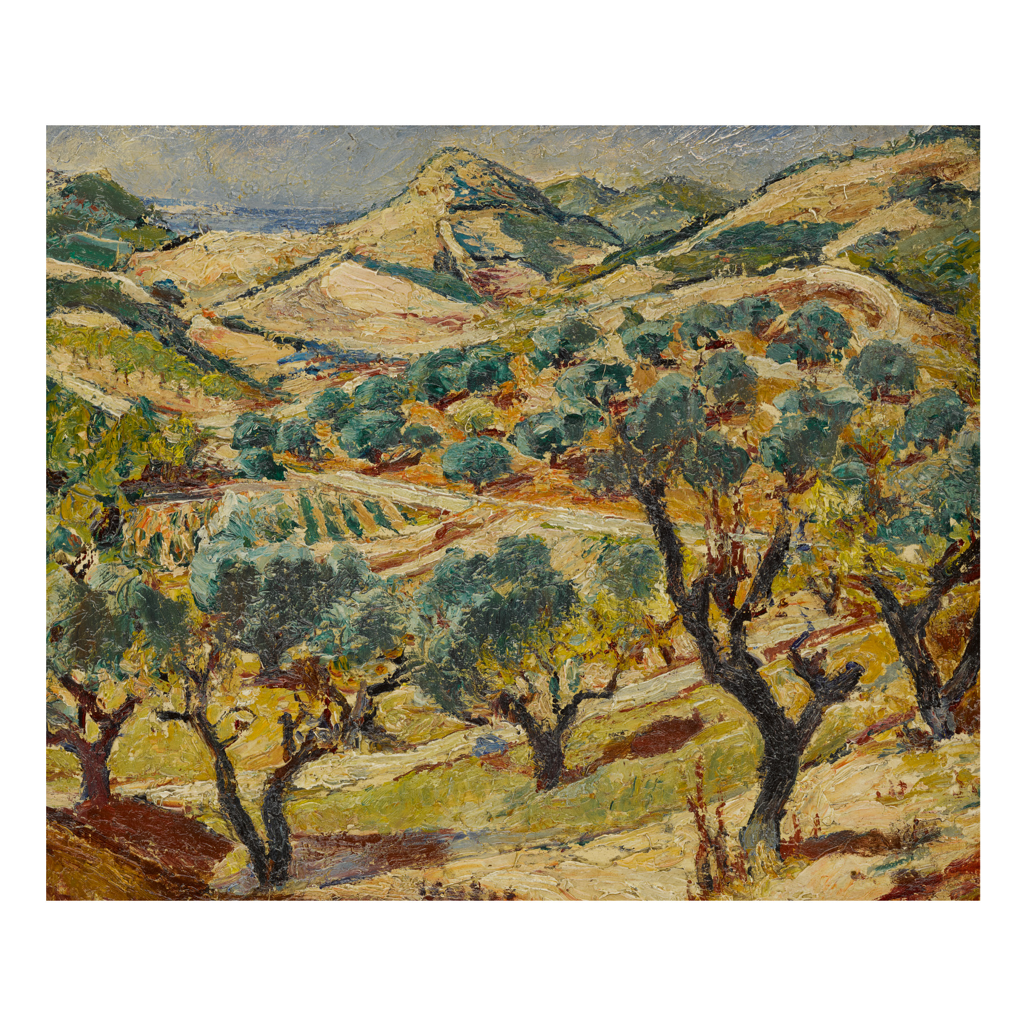 "Mela Muter (1876-1967) ""2 pejzaże (praca dwustronna)"", źródło: Sotheby's"
