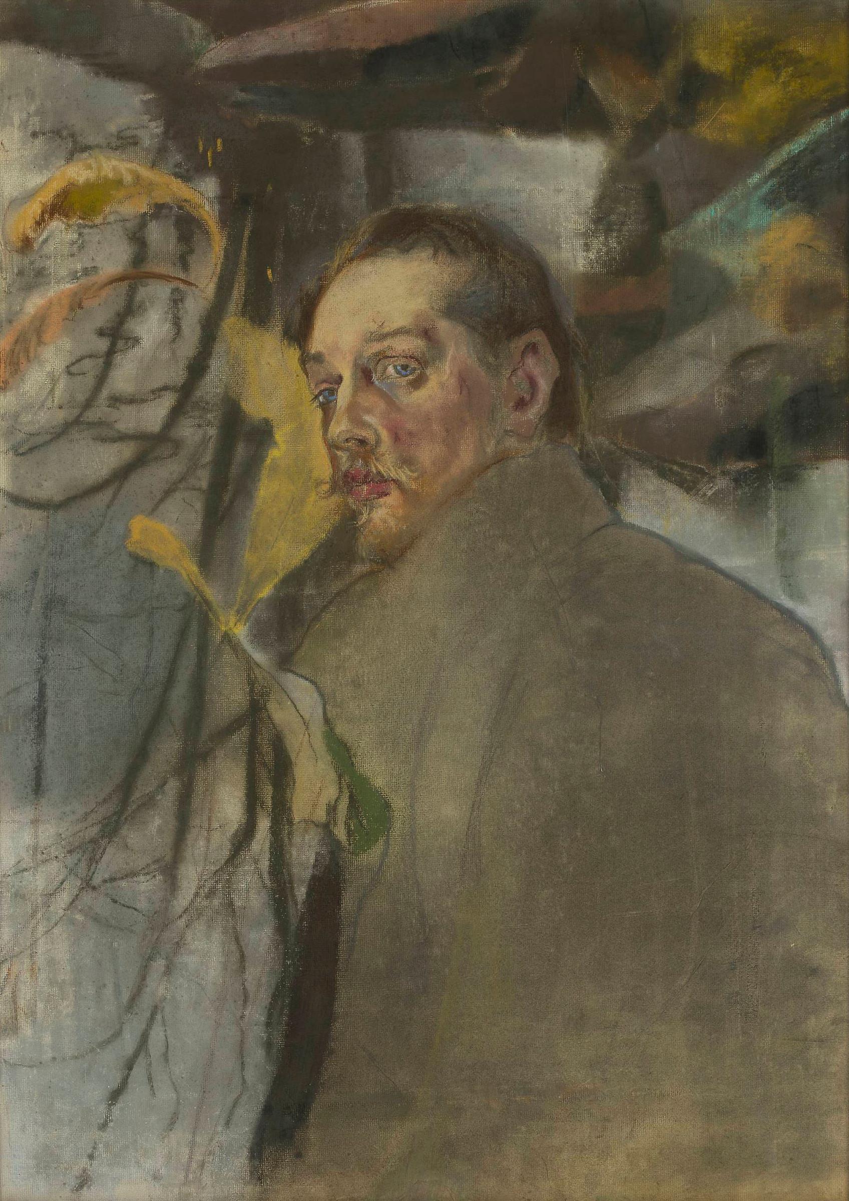 """Kazimierz Sichulski """"Autoportret"""", po 1909 roku, źródło: Muzeum Narodowe w Warszawie"""