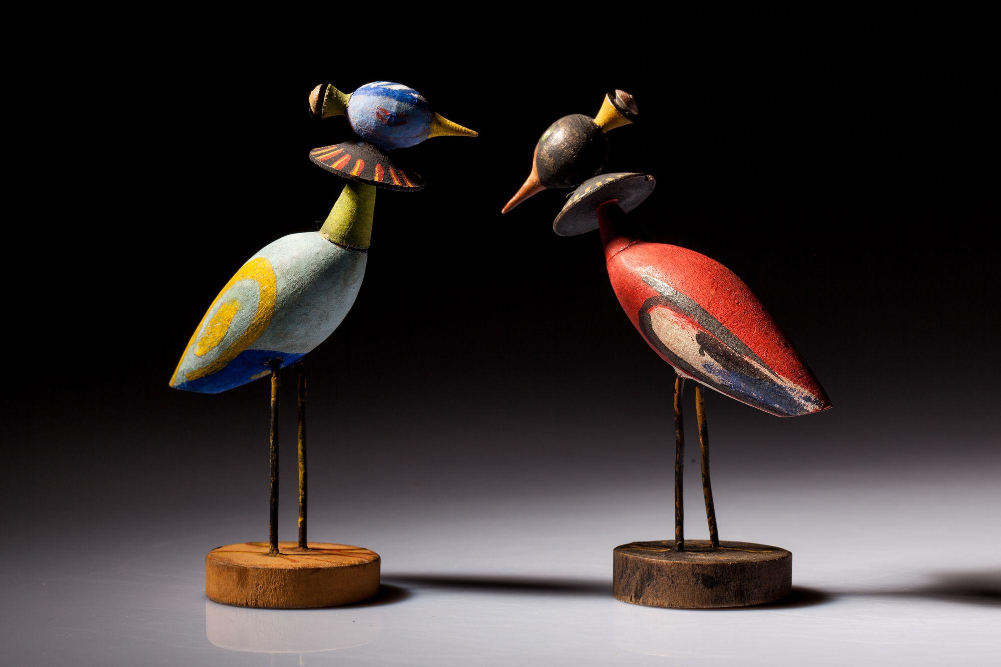 Zabawki-ptaki według projektu Zofii Stryjeńskiej dla Warszatów Krakowskich, źródło: Muzeum Etnograficzne w Krakowie