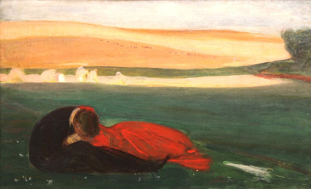 """Wojciech Weiss """"Pocałunek"""", 1899 rok, źródło: Muzeum Narodowe w Poznaniu"""