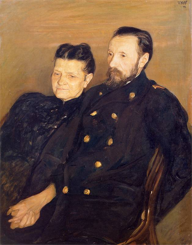"""Wojciech Weiss """"Portret rodziców"""", 1899 rok, źródło: Fundacja Wojciecha Weissa"""