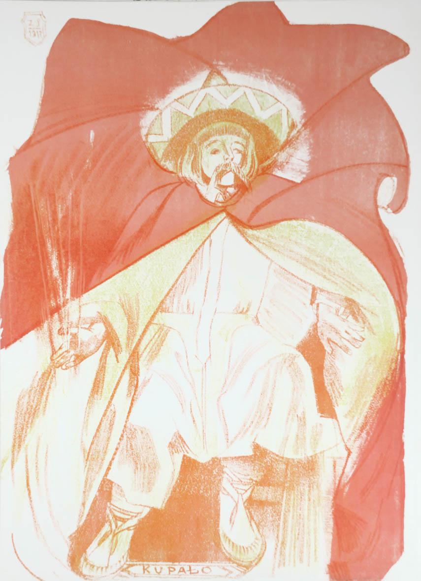 """Zofia Stryjeńska """"Kupało"""" z teki """"Bożki słowiańskie"""", 1918 rok, źródło: Rempex"""