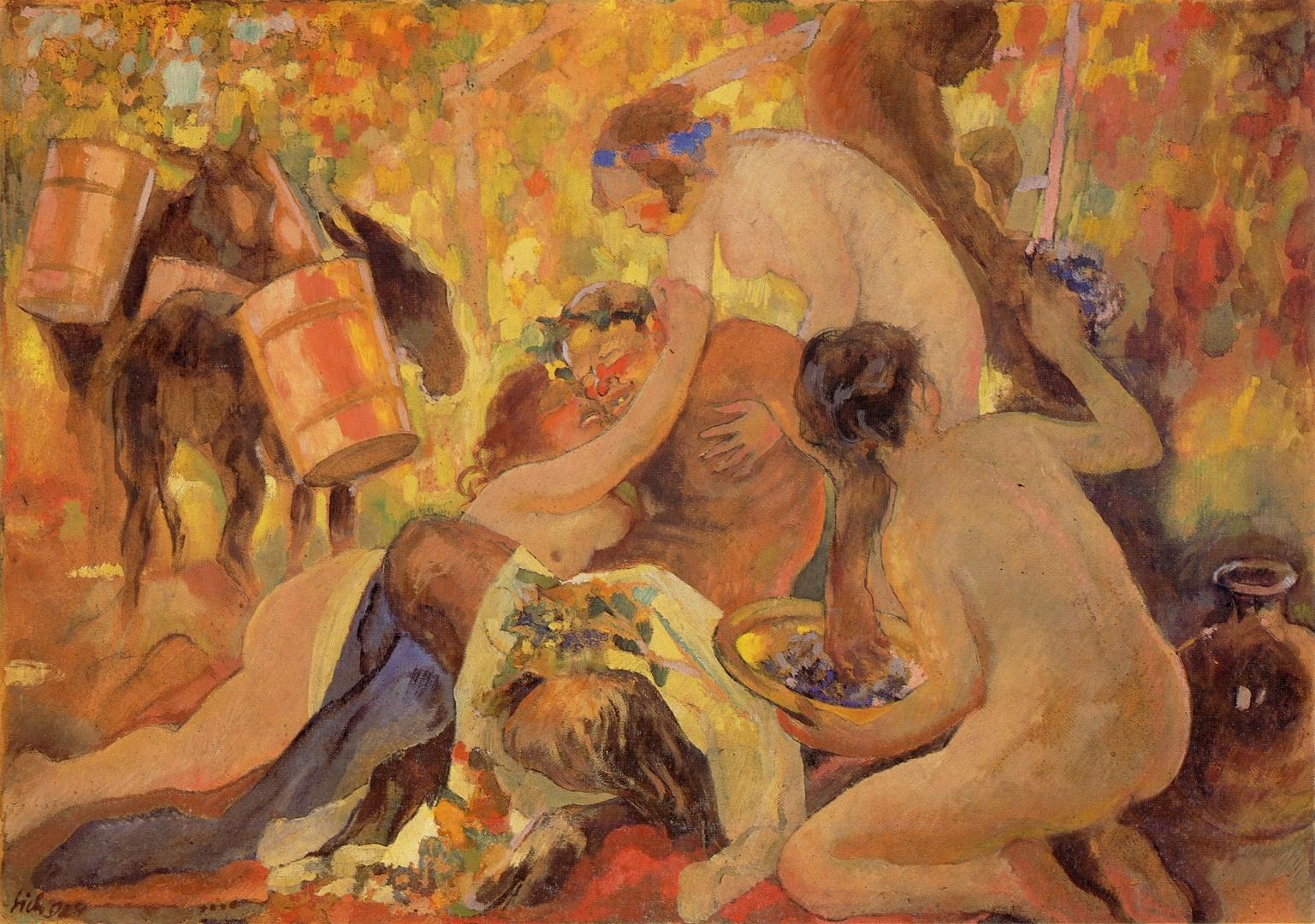 """Kazimierz Sichulski """"Bachanalia"""", 1924 rok, źródło: Lwowska Galeria Sztuki"""