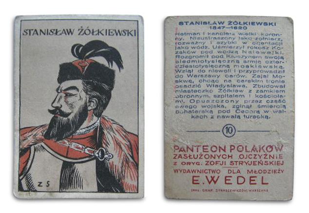 Karta pocztowa według projektu Zofii Stryjeńskiej dla firmy E. Wedel, źródło: allegro.pl