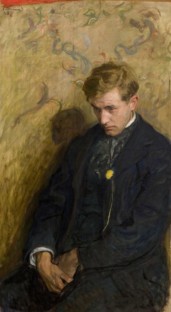 """Wojciech Weiss """"Melancholik"""", 1898 rok, źródło: Muzeum Narodowe w Krakowie"""