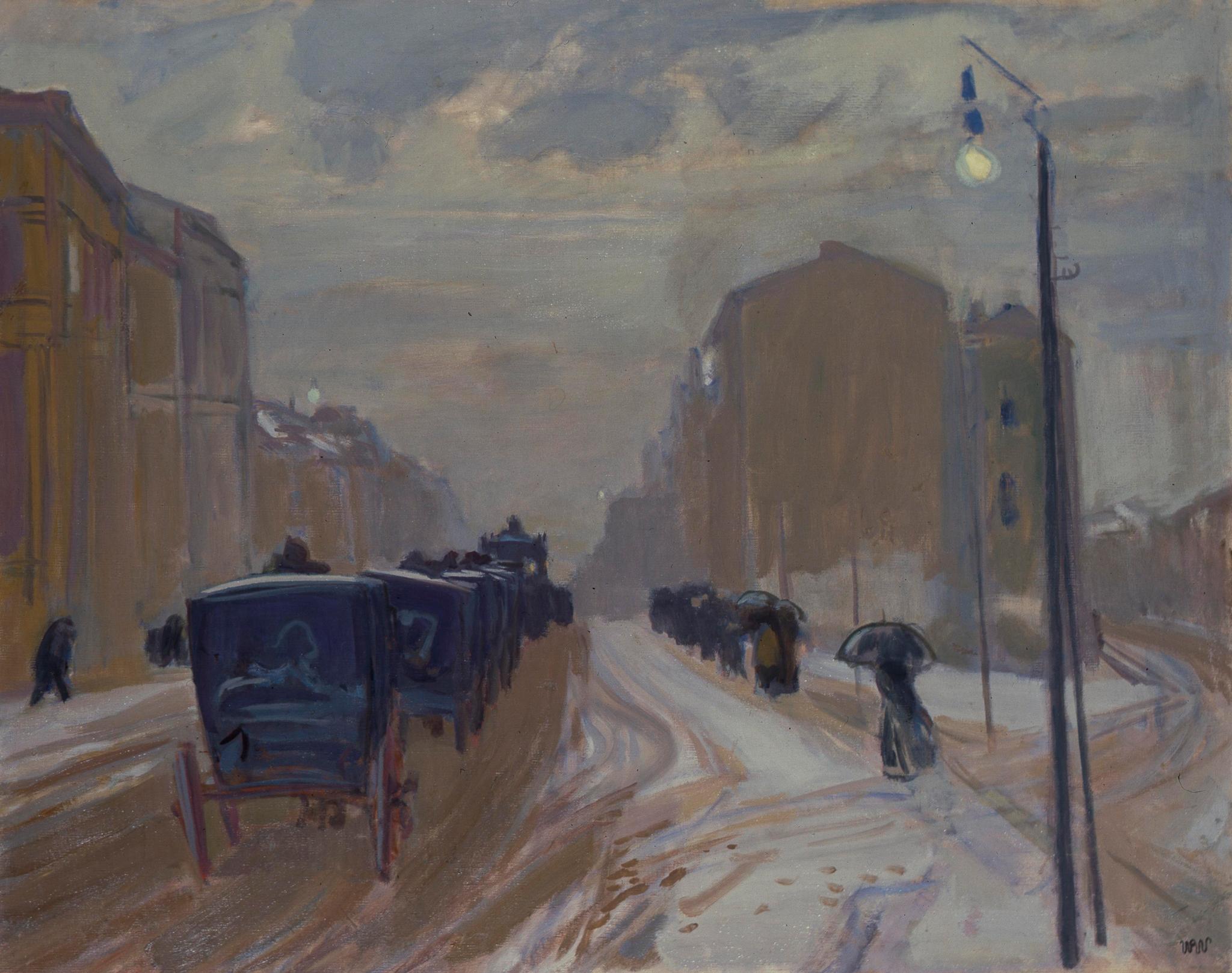 """Wojciech Weiss """"Pogrzeb w mieście"""", 1904 rok, źródło: Fundacja Wojciecha Weissa"""